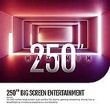 Proyector bomaker. 3600lúmenes, Portátil HD 1280X 720p, 1080p apoyado, Compatible con Amazon firestick, portátiles, Smartphone Proyector para película, Juegos, Eventos