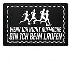 Hochwertige Fußmatte - Wenn ich nicht aufmache bin ich beim Laufen Jogging Geschenk Mann Frau
