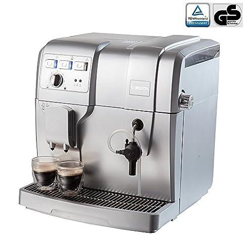 Machine à café Viesta Eco 100 entièrement automatique Cafetière Percolateur expresso Latte Macchiatto, Cappucinos, Café Latte Vapeur 19 Bars