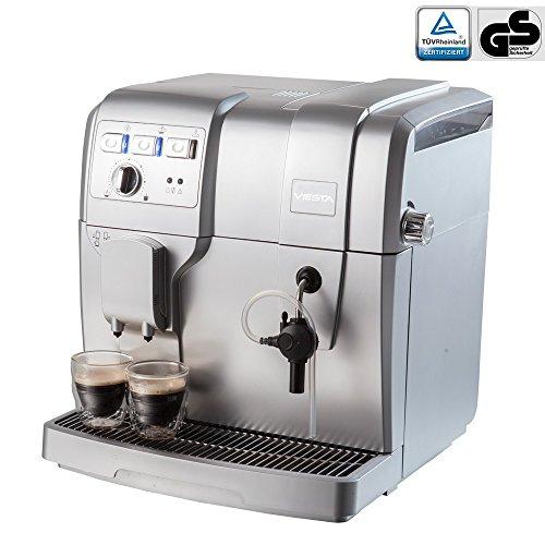 Viesta Eco 100 Kaffeevollautomat - leistungsstarke Kaffeemaschine (1,5 Liter, italienische 19 bar Druckpumpe, 1300 Watt) - Kaffeeautomat
