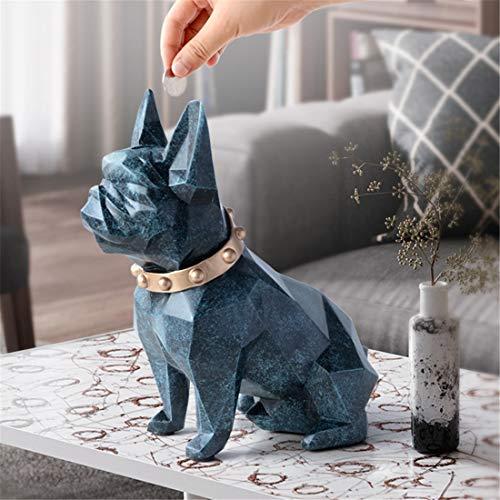 Shiny shop Brillianter Laden Nordische minimalistische kreative Kinder Münze Sparschwein kreatives Zuhause Erwachsene große Sparschwein Geld Glas Geburtstagsgeschenk (Color : Texture Blue) (Erwachsene Sparschweine Für Glas)