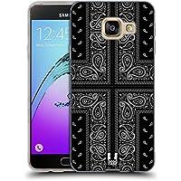 Head Case Designs Croix Noire Bandana Cachemire Classique Étui Coque en Gel molle pour Samsung Galaxy A3 (2016)