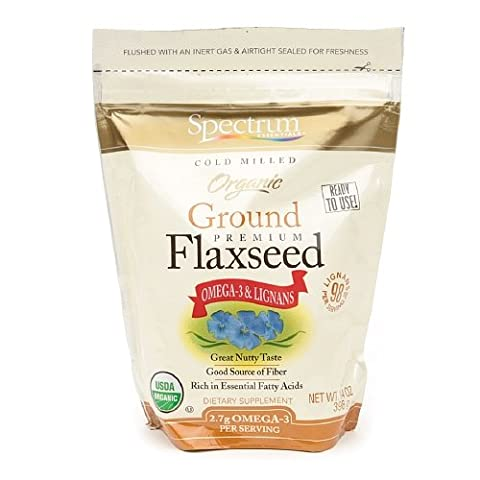 Spectrum Naturals - Essential Flaxseed Ground Organic, 14 oz granules ( 6 Pack)