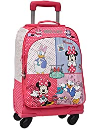 Disney Minnie & Daisy - Maleta convertible a mochila, color rosa