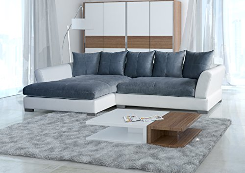 BIG Sofa -Weiss Grau - Links