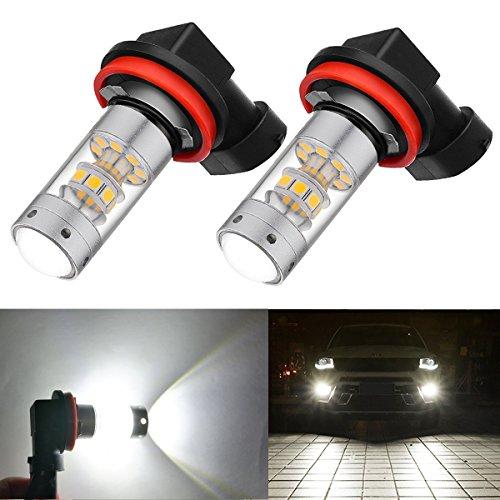 BOGAO High Power 3000 Lumen 3030 SMD Super estremamente luminoso 6000 K bianco H11LL H8LL H11 H8 H16 Lampadine a LED per sostituzione delle lampade fendinebbia (H11, H8, H16 TYPE2 JP)