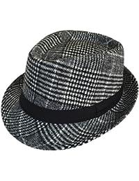 Bigood Homme Bonnet Jazz Visière Unisexe Chapeau Panama de Béret de Outdoor de Soleil