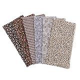 IPOTCH 6 Stück Baumwollstoff Stoffpakete Stoffe Baumwolle Stoffreste Paket Reste DIY Handwerk, 50x50cm