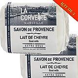 Corvette - 2er-Set Provence-Seifen 100 g frische Bio-Ziegenmilch 100% natürlich - 2 x 100 g -...