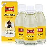 Ballistol Animal Tierpflegeöl 100ml - Für Haut, Pfoten und Fellpflege (3er Pack)