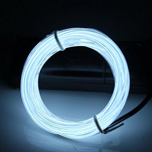 m Neon Light EL Draht Glowing stroboskopischer Elektrolumineszenz-Folie LED Strip mit Batterie Pack Controller für Partys, Weihnachten, Halloween Dekoration (Grad-3-halloween-kunst)