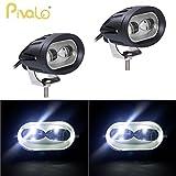 #9: Pivalo 20W 2 LED Oval 4D Projector Lens Fog Light Automotive Work Light LED Spotlight Lamp Headlight for Motorcycle Car SUV Forklift Truck Boat UTV Offroad Vehicles (Pack of 2, White)