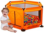 Arkmiido Kids Playpen Fence,Portable Fencing for Infants and Babies - Lightweight Mesh Baby Playpen with Carry