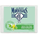 Le Petit Marseillais savon extra doux fabrication ancienne chevrefeuille 100g - Prix Unitaire - Livraison Gratuit...