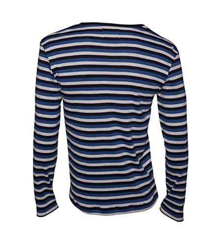 MADS NORGAARD Herren Longsleeve Tobias Long navy/blue/grey navy/blue/greymelange