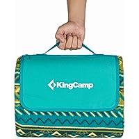 KingCamp Manta Impermeable para Picnic, Playa, Camping, Cómoda y Suave, Bolsa de Transporte con Cremallera, 200 x 150 cm
