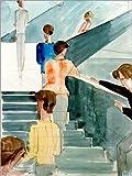 Posterlounge Leinwandbild 60 x 80 cm: Bauhaustreppe von Oskar Schlemmer/akg-Images - fertiges Wandbild, Bild auf Keilrahmen, Fertigbild auf Echter Leinwand, Leinwanddruck