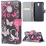 HTC Desire 620/620G Tasche - [Flip Wallet Case] Ledertasche