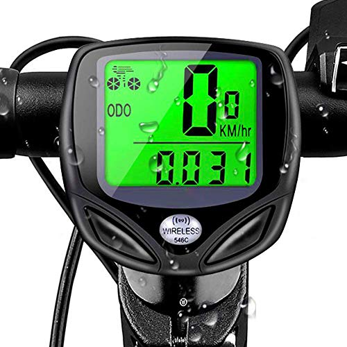 Covok Tachometer, digital, für Motorrad und Motorrad, universell, mit Sensore-Tachometer, tragbar, für Fahrräder von Montagna, LCD-Display, 46 x 46 mm M schwarz