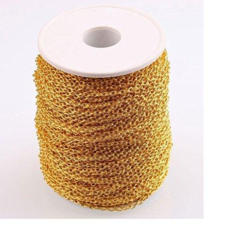 ILOVEDIY 3Meter Vergoldet Gliederkette Kabelkette Link Kette zum Basteln Schmuckherstellung 4×2.5mm