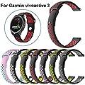 BZLine Für Garmin Vivoactive 3 GPS Smartwatch Armband, Ersatz Weich Silikon Sport Schnellverschluss Armband Gurt für Garmin Vivoactive 3 Fitness-Smartwatch von BZLine auf Du und dein Garten