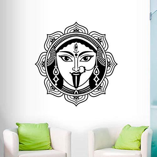 zlhcich Indische Shiva Wandaufkleber Wohnkultur Wohnzimmer Hochwertige Vinyl Hinduismus Gott Wandtattoos Kunst Wandbilder 58cmx58cm