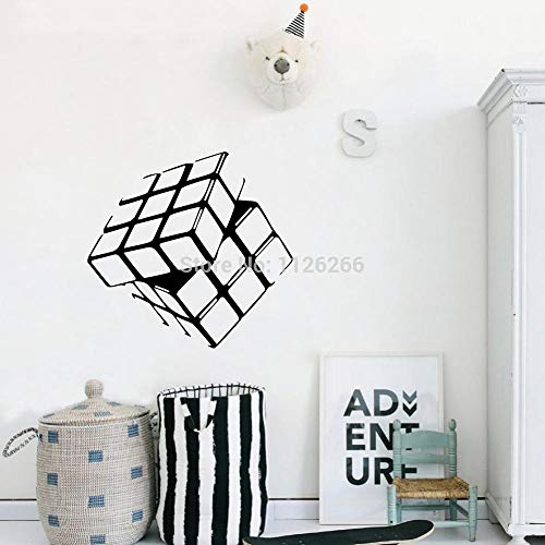 WWYJN Rubik's Cube Wall Art Vinyl Sticker Nursery Kids Room Creative Home Art Wall Decor Two Size  54x57cm