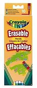 Crayola - 10 Crayons De Couleur Effaçables