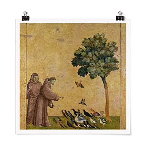 Poster Giotto di Bondone - Der Heilige Franziskus Quadrat, Matt 30 x 30cm