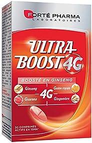Ultra Boost 4G | Complément Alimentaire Booster d'énergie | Ginseng, Guarana, Gelée Royale, Gingembre + Ca