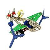 Juego de Construcción de Metal - Avión - Incluye 80 Piezas y Herramientas