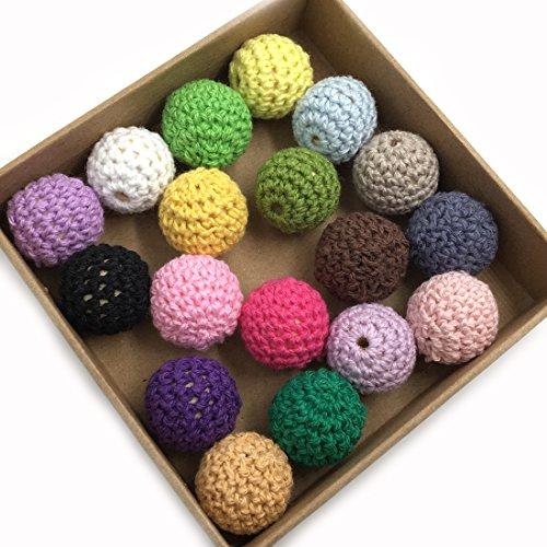 coskiss-108pcs-bambino-massaggiagengive-fai-da-te-arcobaleno-dentizione-perle-di-legno-crochet-colou