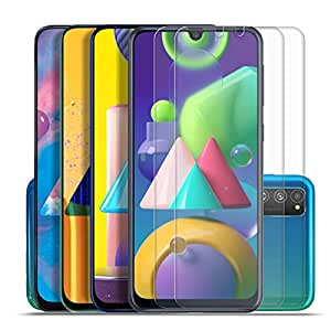 SupCares Premium Tempered Glass for Samsung Galaxy M21 / Samsung Galaxy M31 / M30S / M30 / A50S / A50 / A30S / A30 with Easy Installation Kit (Transparent) - Pack of 2