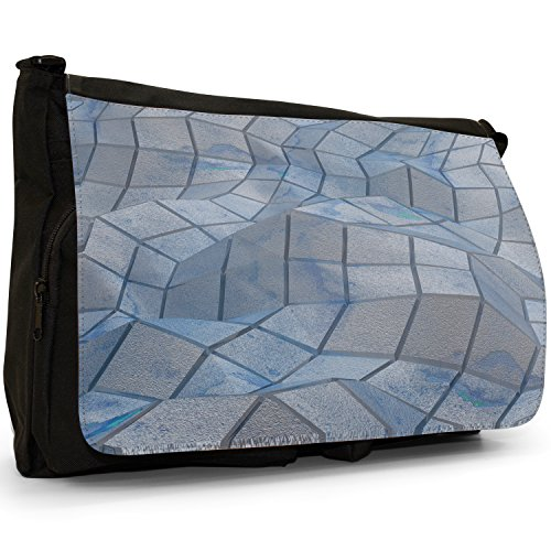 Fancy A Bag Borsa Messenger nero Abstract Reflections Abstract Reflections