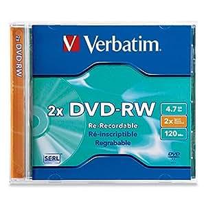 Verbatim DVD-RW 4.7GB 2X Branded 1pk Jewel Case