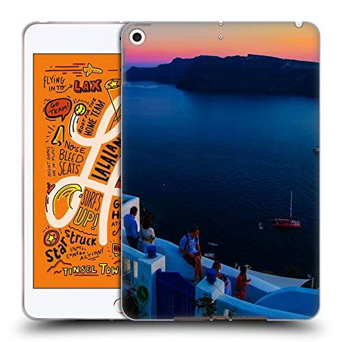 Head Case Designs Offizielle Haroulita Terrasse Santorini Sonnenuntergang Soft Gel Huelle kompatibel mit iPad Mini (2019) - Terrasse Sonnenuntergang