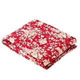 ADOO 120 x 120 cm Picknickdecke Kinder waschbar Baby Krabbeldecke Rot Outdoor Campingdecke gepolstert (Blumen)