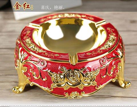LppkzqAshtray moda creativa di dimensioni più eleganti bar metallo forniture di nozze,un rosso