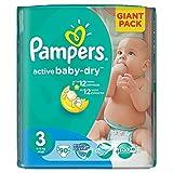 PAMPERS Pañales Baby Dry Midi 3Talla 4–9kg (90hasta 540Pañales) Talla:Pampers Active Baby Gr. 3 (90 Windeln)
