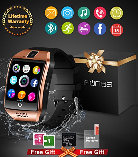 Bluetooth-Smart-Watch-With-Camera-Waterproof-Smartwatch-Touch-Screen-Phone-Unlocked-Watch-Cell-Phone-Smart-Wrist-Watch-Cell-Phone-Watch-For-Android-Phones-Samsung-IOS-Iphone-7-Plus-6S-Men-Women-Kids