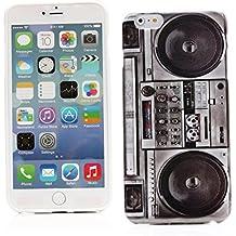 "Kit Me Out ES Funda de Gel TPU para Apple iPhone 6 Plus 5.5"" pulgadas - Multicolor Estéreo vintage / retro"