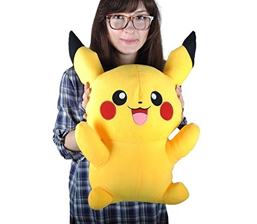 Tickles Yellow Big size Lovely Pikachu Plush Soft Doll Pokemon Toy 40 cm