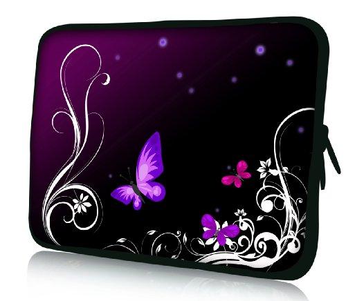 Luxburg® Design Funda Blanda Bolso Sleeve para Ordenador Portátil/MacBook de 15,6 pulgadas, motivo: Mariposa lila