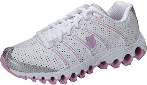 K-Swiss Damen Röhren 100P Sneaker White/Powder Pink/Silver