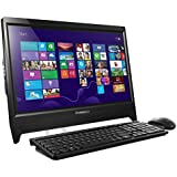 Lenovo C260 19.5 inch Non-TouchScreen All-in-One Desktop (Intel Celeron J1800 2.58 GHz, 4 GB DDR3 RAM, 500 GB HDD, Integrated Graphics, DVDRW, HDMI, Camera, Wi-Fi, Windows 8.1 with Bing, Free Windows 10 Upgrade) - Black