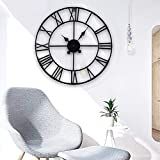 MultiWare Horloge Murale Chiffres Romains Grand Traditionnel Home Decor Style Vintage Fer