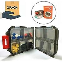 Wasserdicht Pillendose klein tragbar Pillenbox für Reise und täglichen Gebrauch,Tablettendose mit 10 Fächern,... preisvergleich bei billige-tabletten.eu