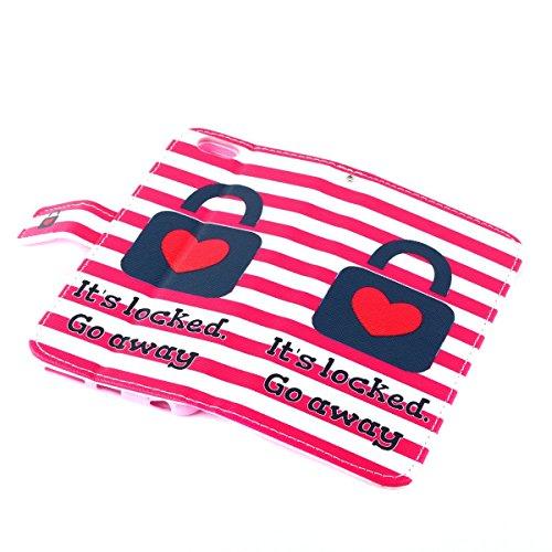 iPhone 6S Ledertasche - Felfy Schutzhülle für Apple iPhone 6S 6 Magnetband Muster Flip Ständer Bookstyle PU Leder Wallet Case Cover Etui Holster Handytasche + 1x Bling Rot Eule Anti Dust Plug + 1x Rot Rot Lock Cas