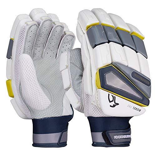 KOOKABURRA Cricket-Handschuhe 2019 Nickel Pro, Weiß/Grau, 2019, weiß, Left Hand Adult
