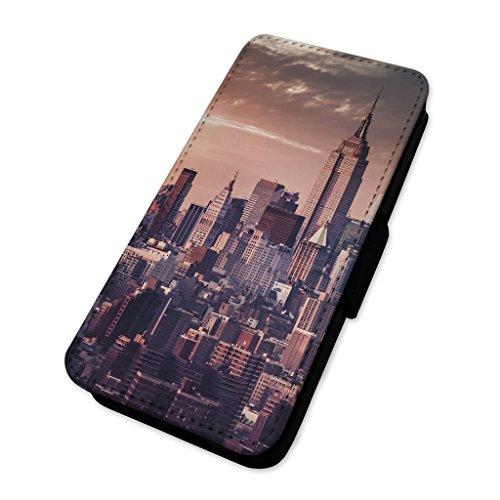 Handy-Klappetui mit Kartenhalter, Motiv: New York City Skyline Samsung Galaxy Ace 4